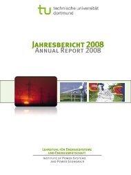 Jahresbericht 2008 - Institut für Energiesysteme, Energieeffizienz ...