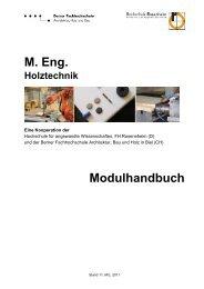M. Eng. Holztechnik - AHB - Berner Fachhochschule