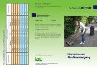 Infoblatt zur Straßenreinigung - Krefeld