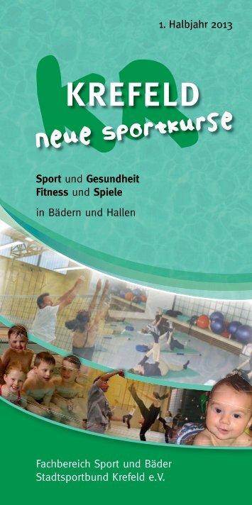 Sport- und Gesundheitskurse im 1. Halbjahr 2013 - Krefeld