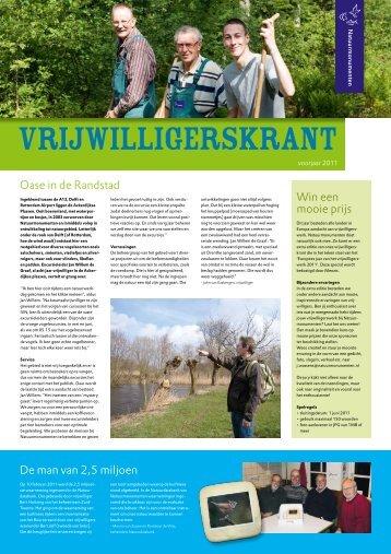 Vrijwilligerskrant voorjaar 2011 - Natuurmonumenten