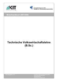 Modulhandbuch (lang) - Fakultät für Wirtschaftswissenschaften