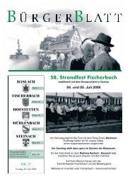 58. Strandfest Fischerbach - Haslach
