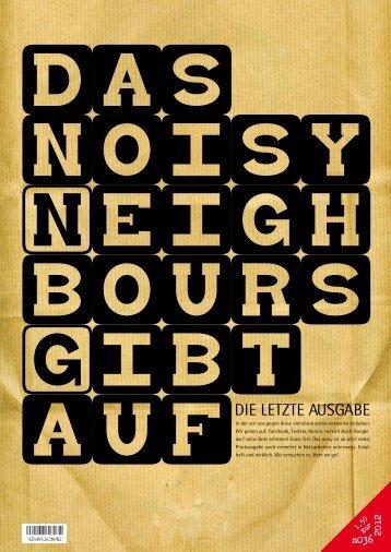 aufDIE LETZTE AUSGABE - Noisy-neighbours.com