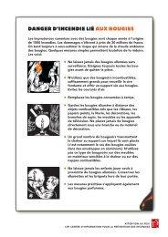 Danger d'incendie lié aux bougies (730 KB - Hausinfo