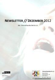Newsletter Dezember 2012 - Chorverband Berlin eV