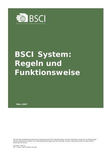 BSCI System: Regeln und Funktionsweise - Gies