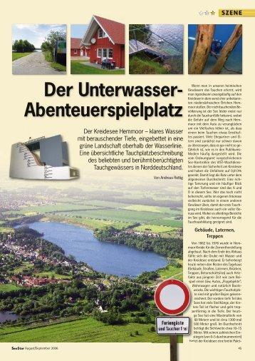 Der Unterwasser- Abenteuerspielplatz - Kreidesee Hemmoor ...