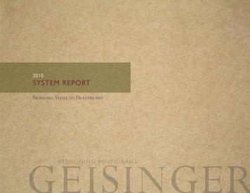 2010 (.pdf) - Geisinger Health System