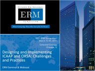 Designing and Implementing ICAAP and ORSA: Challenges and ...