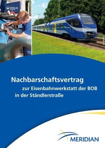 Nachbarschaftsvertrag - Bayerische Oberlandbahn