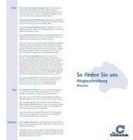 Wegbeschreibung zur Direktion in München - Continentale