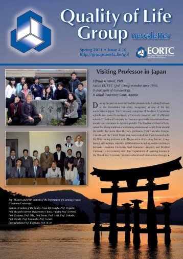 Newsletter Issue 10 - the EORTC Groups Websites