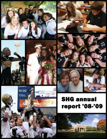 SHG Annual Report 08-09.pmd - Sacred Heart-Griffin High School
