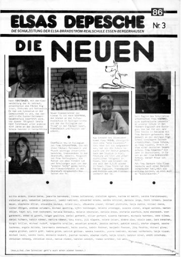 Elsas Depesche Nr. 3 - Elsa-Brändström-Realschule Essen