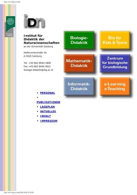 Institut für Didaktik der Naturwissenschaften - Schulen ...