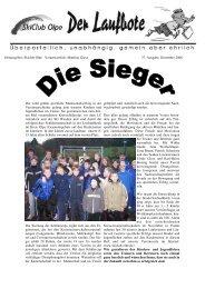 Herausgeber: Skiclub Olpe Verantwortlich: Matthias Giese 37 ...