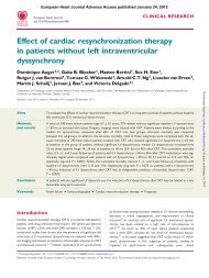 Effect of cardiac resynchronization therapy in patients without left ...