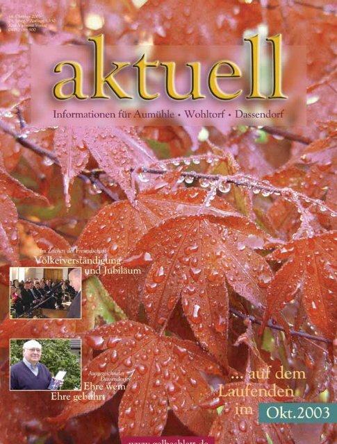 AWA10001 Aumühle Wohltorf Aktuell 10/0, S.1-48 - Kurt Viebranz ...