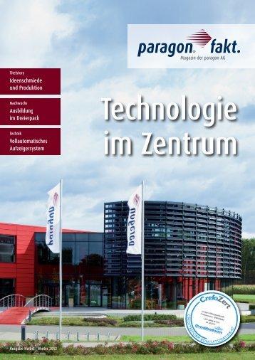 Ideenschmiede und Produktion Ausbildung im ... - paragon AG