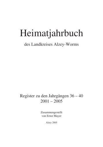 Heimatjahrbuch - Landkreis Alzey-Worms
