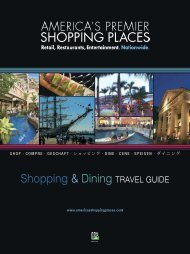 Shopping & Dining TRAVEL GUIDE - America's Premier Shopping ...