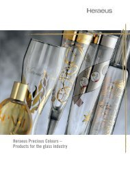 Heraeus Precious Colours – Products for the glass industry