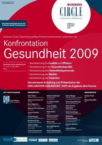 KonfRontAtIon GesundHeIt 2009 - Qualitas