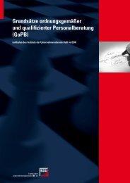 Grundsätze ordnungsgemäßer und qualifizierter Personalberatung ...