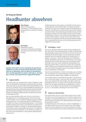 Headhunter abwehren - Romulus Consulting