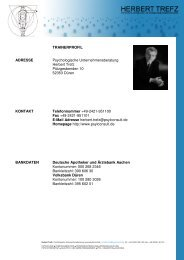 Download des Trainerprofils - Herbert Trefz