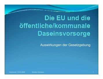EU und tägliche Daseinsvorsorge