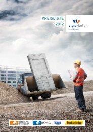 PREISLISTE 2012 - Frischbeton Thun AG