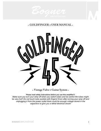 GOLDFINGER MANUAL - Bogner