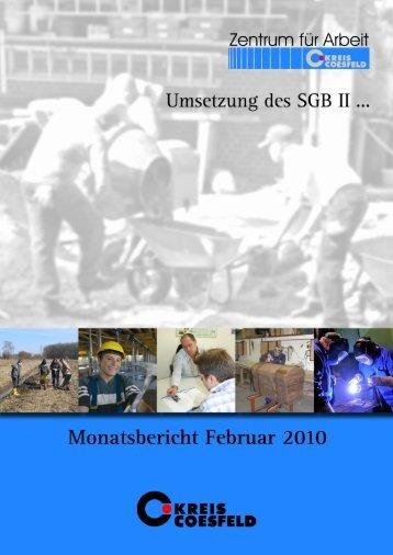 Monatsbericht Februar 2010 zur Umsetzung des ... - Kreis Coesfeld