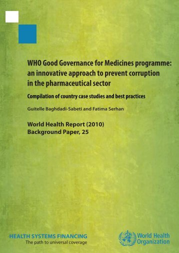 WHO Good Governance for Medicines programme: an innovative ...