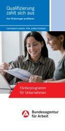 Flyer: Qualifizierung zahlt sich aus - Kreis Euskirchen