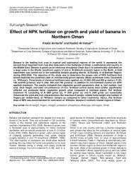 Effect of NPK fertilizer on growth and yield - Academic Journals