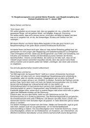 Rede Neujahrsempfang 2007 - Kreis Euskirchen