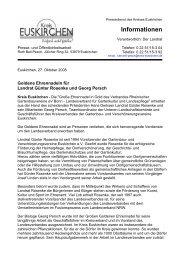 62. Goldene Ehrennadeln für Landrat Günter ... - Kreis Euskirchen