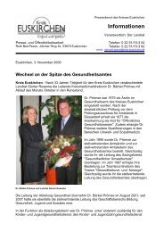 63. Wechsel an der Spitze des Gesundheitsamtes - Kreis Euskirchen
