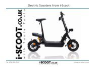 i-Scoot folding electric scooter info pack - Eco Rally