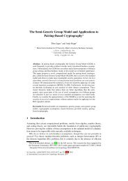 The Semi-Generic Group Model and Applications to ... - Tibor Jager