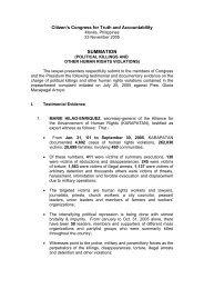 SUMMATION - Philippine Center for Investigative Journalism