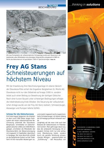 thinking in solutions - Frey AG Stans