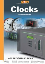 Clocks - g+m elektronik ag