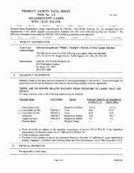 PRODUCT SAFETY DATA SHEET PSDS No. 1.4 ... - Menards