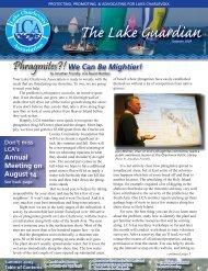 Summer Newsletter - Lake Charlevoix Association