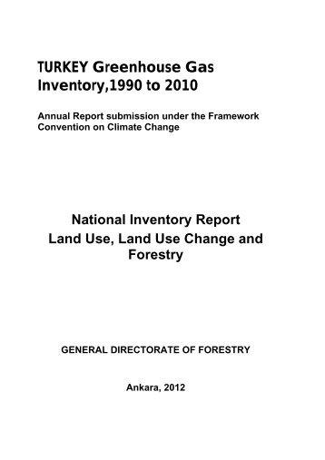 TURKEY Greenhouse Gas Inventory,1990 to 2010