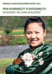 UNDP Mongolia Human Development Report 2011